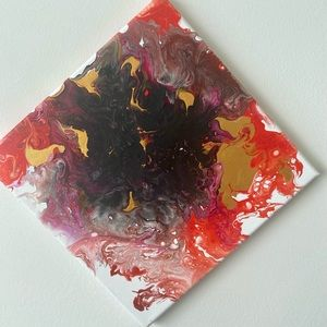 Abstract painting-fire colours